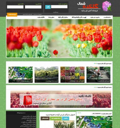 وب سایت گلکده شمال ( فروشگاه اینترنتی گل و گیاه )