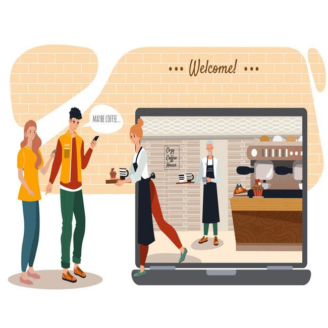 طراحی وب سایت کافه و کافی شاپ