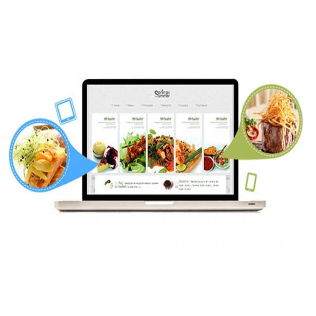 طراحی سایت رستوران و فست فود