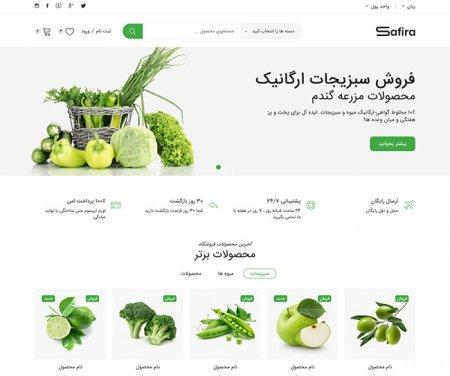 طراحی سایت میوه فروشی، فروشگاه میوه در رشت و گیلان