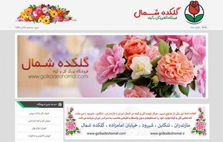 طراحی سایت گل و گیاه ( فروشگاه اینترنتی گل و گیاه )